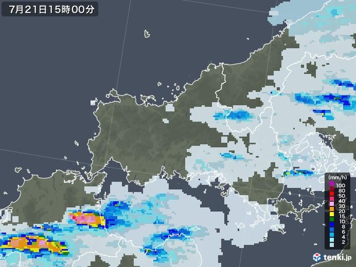 雨雲 レーダー 山口