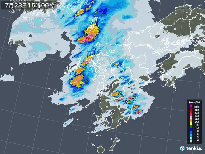 北部 レーダー 九州 雨雲