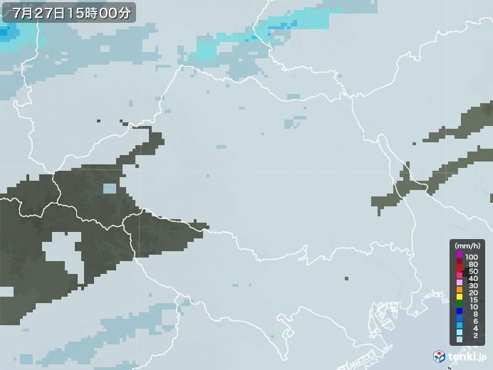 埼玉県の雨雲レーダー(2020年07月27日)