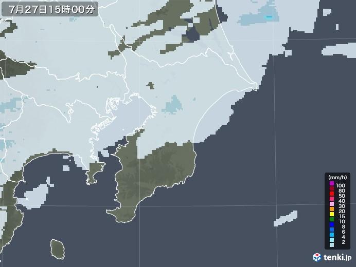 千葉県の雨雲レーダー(2020年07月27日)
