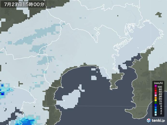 神奈川県の雨雲レーダー(2020年07月27日)