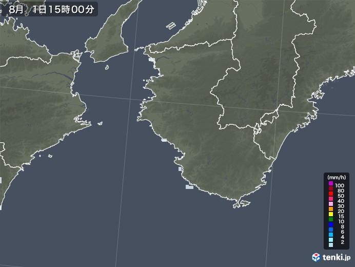 和歌山県の雨雲レーダー(2020年08月01日)