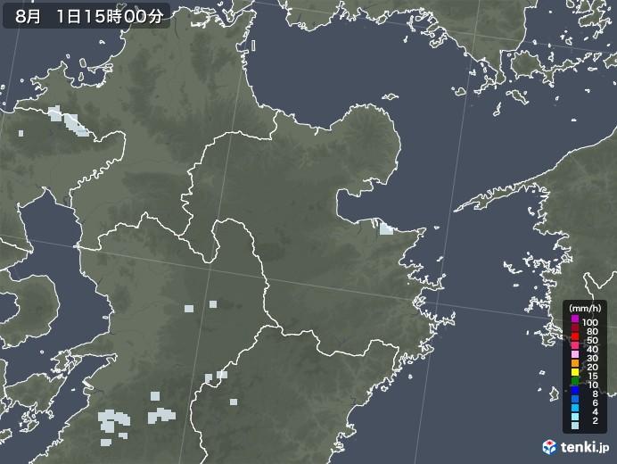 大分県の雨雲レーダー(2020年08月01日)