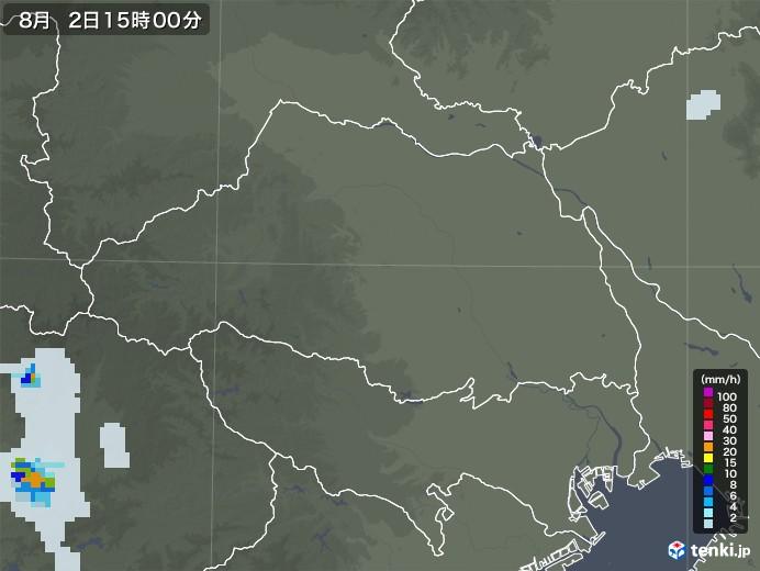 埼玉県の雨雲レーダー(2020年08月02日)