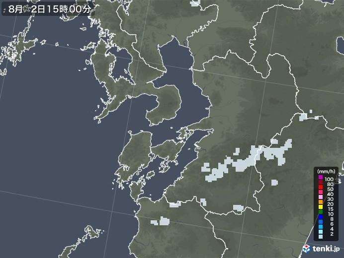 熊本県の雨雲レーダー(2020年08月02日)