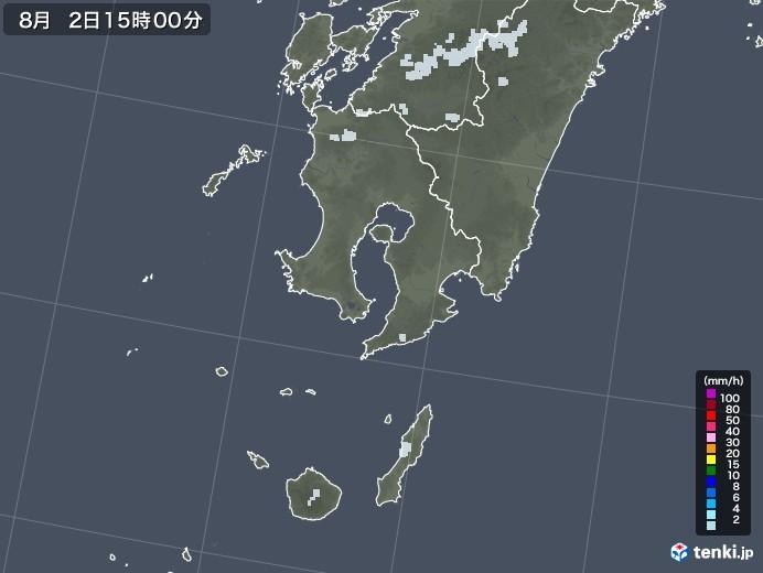 鹿児島県の雨雲レーダー(2020年08月02日)