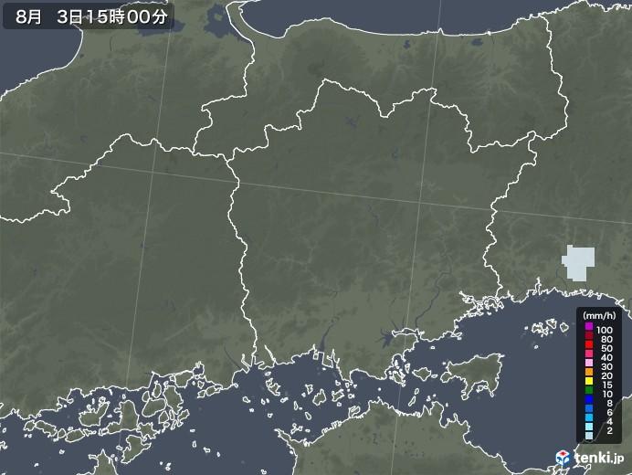 岡山県の雨雲レーダー(2020年08月03日)