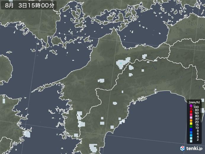 愛媛県の雨雲レーダー(2020年08月03日)
