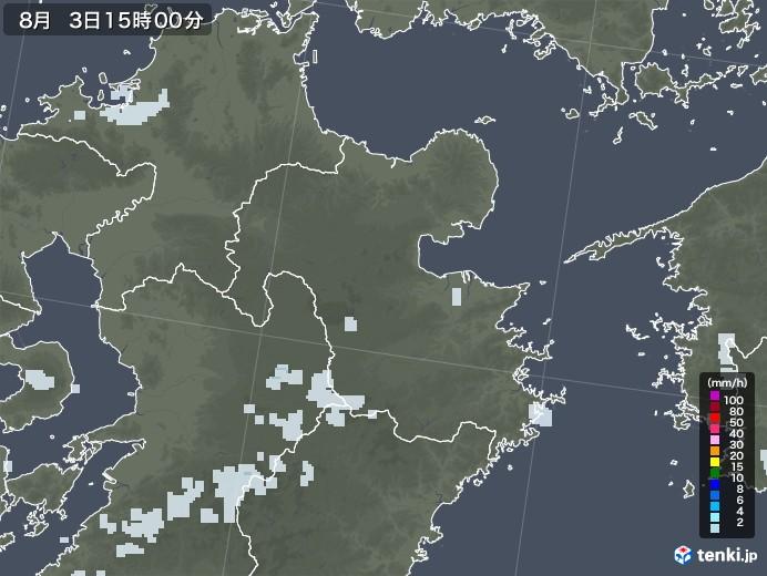 大分県の雨雲レーダー(2020年08月03日)