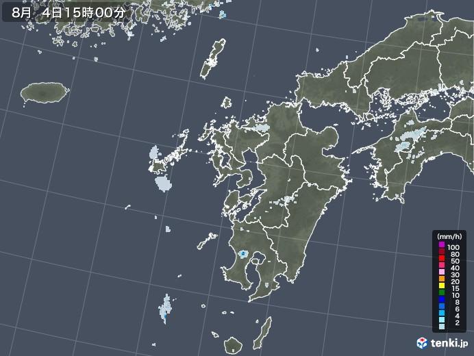 九州地方の雨雲レーダー(2020年08月04日)