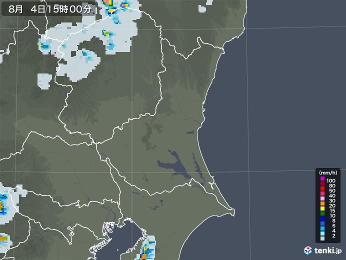 茨城県の雨雲レーダー(2020年08月04日)
