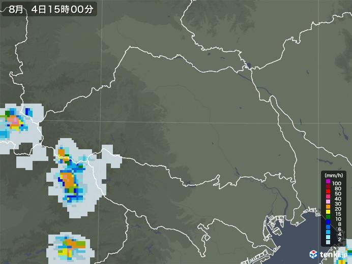 埼玉県の雨雲レーダー(2020年08月04日)