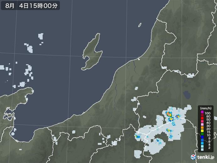 新潟県の雨雲レーダー(2020年08月04日)