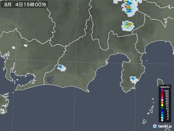 静岡県の雨雲レーダー(2020年08月04日)
