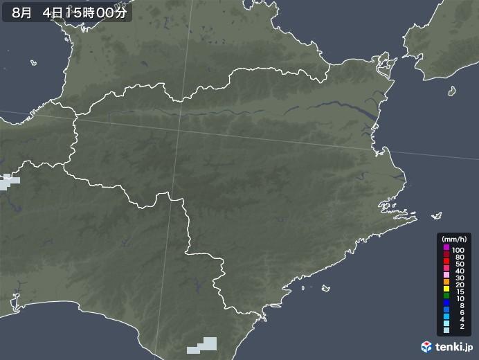 徳島県の雨雲レーダー(2020年08月04日)