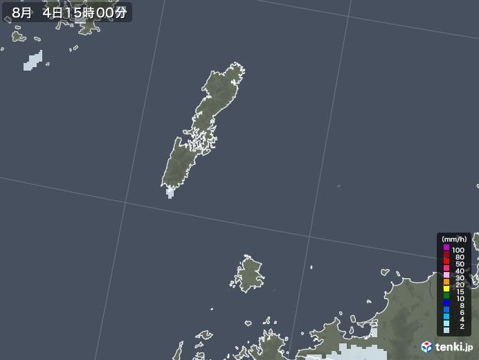 壱岐・対馬(長崎県)の雨雲レーダー(2020年08月04日)