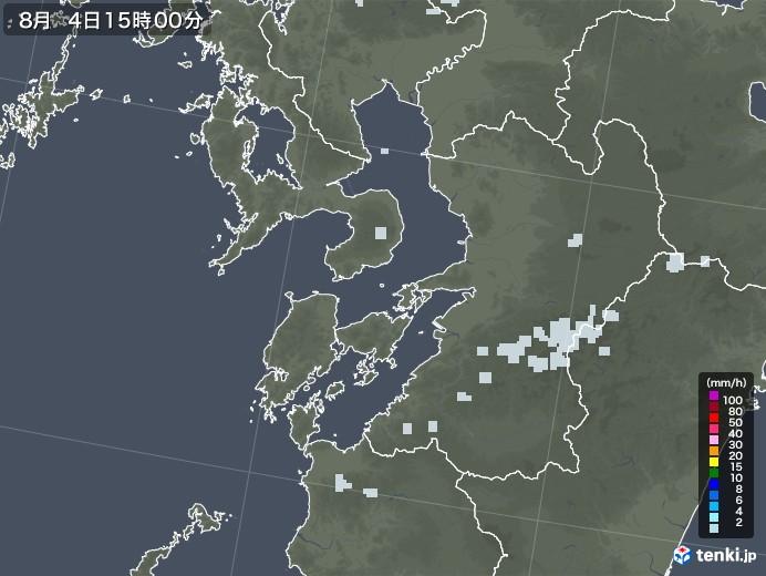 熊本県の雨雲レーダー(2020年08月04日)