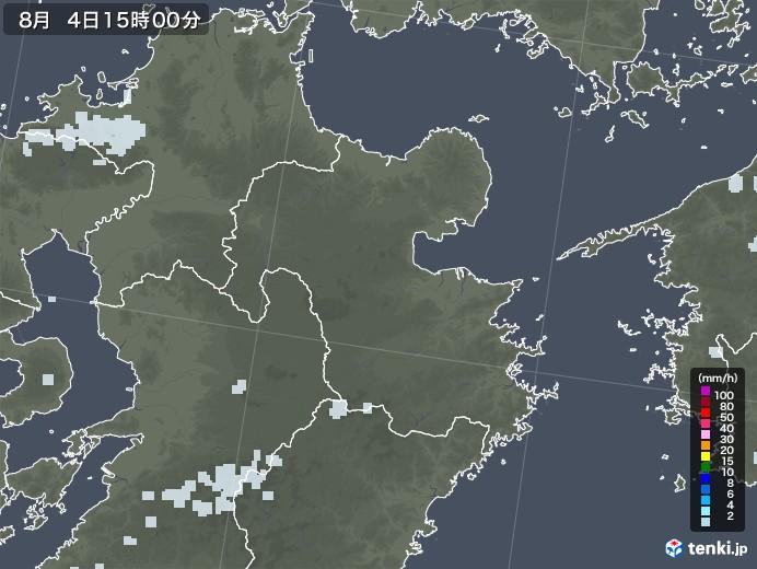 大分県の雨雲レーダー(2020年08月04日)