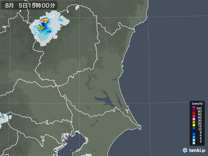 茨城県の雨雲レーダー(2020年08月05日)
