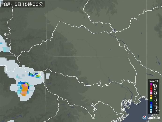 埼玉県の雨雲レーダー(2020年08月05日)