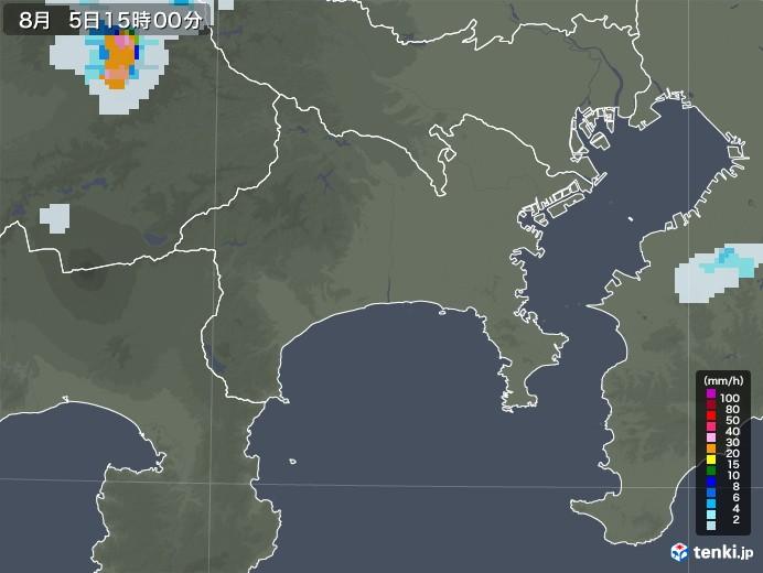 神奈川県の雨雲レーダー(2020年08月05日)