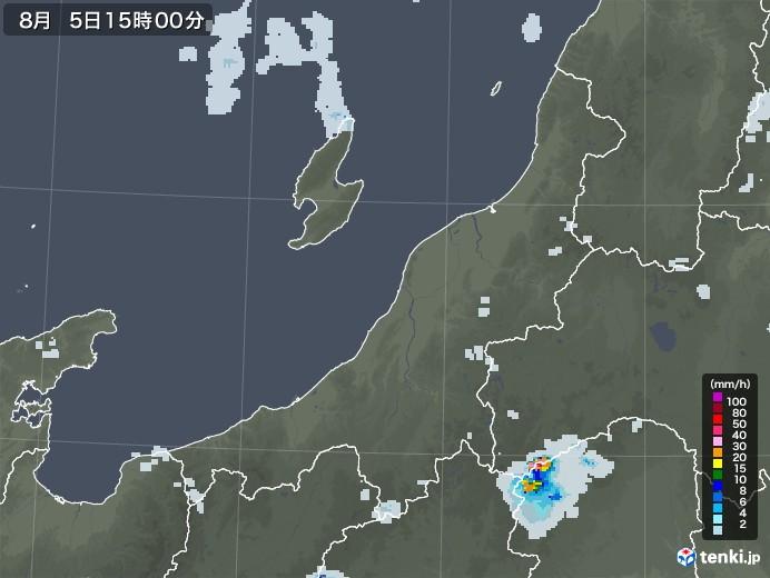 新潟県の雨雲レーダー(2020年08月05日)