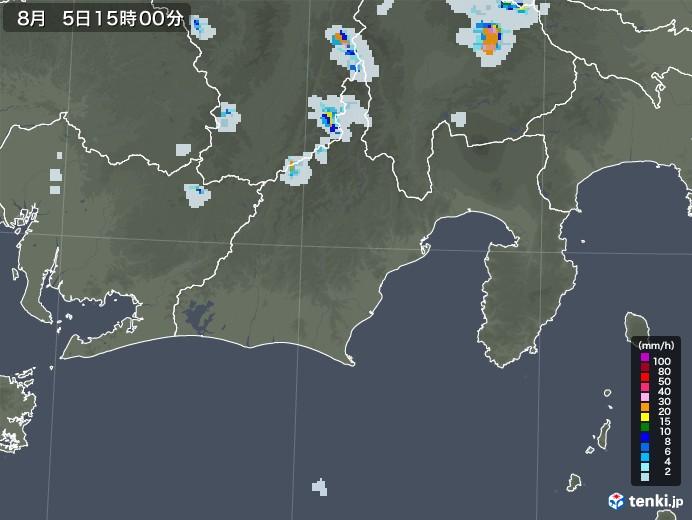 静岡県の雨雲レーダー(2020年08月05日)