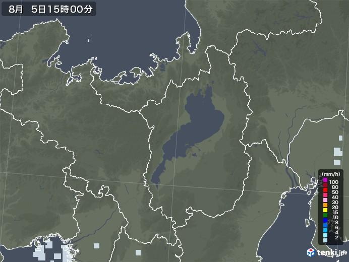 滋賀県の雨雲レーダー(2020年08月05日)