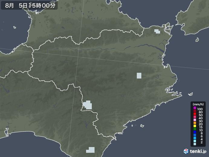 徳島県の雨雲レーダー(2020年08月05日)