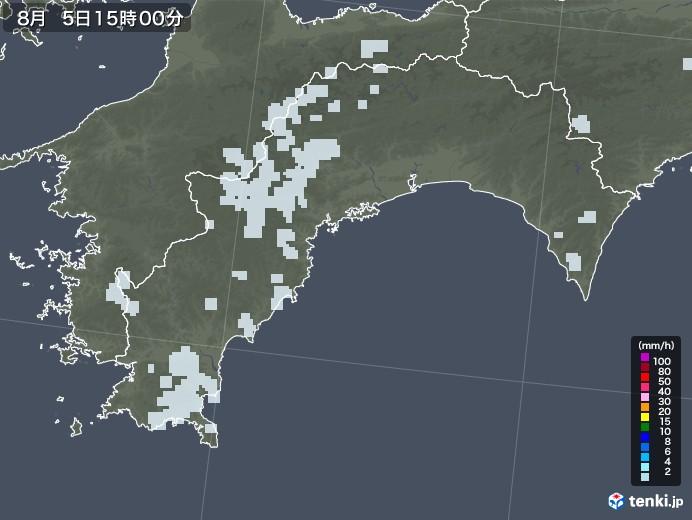 高知県の雨雲レーダー(2020年08月05日)