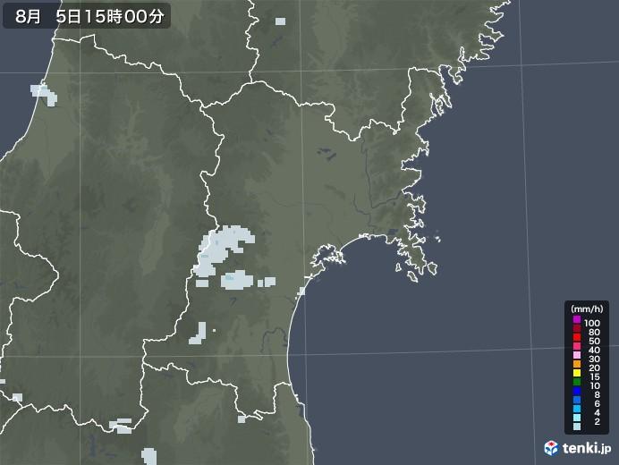 宮城県の雨雲レーダー(2020年08月05日)