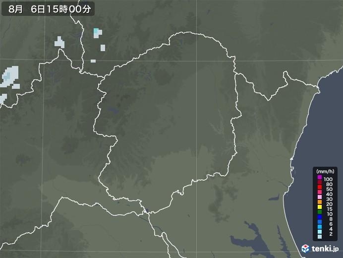 栃木県の雨雲レーダー(2020年08月06日)