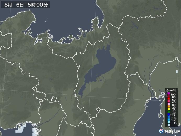 滋賀県の雨雲レーダー(2020年08月06日)