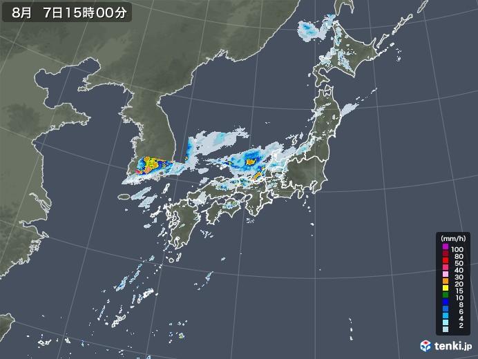 雨雲レーダー(2020年08月07日)