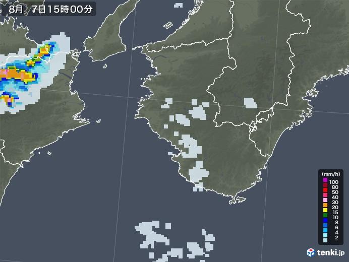 和歌山県の雨雲レーダー(2020年08月07日)