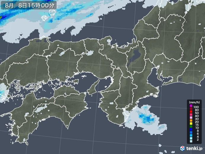 近畿地方の雨雲レーダー(2020年08月08日)