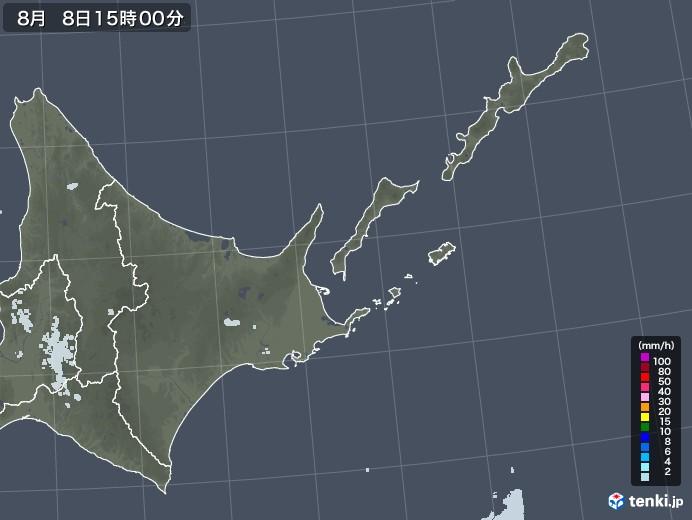 道東の雨雲レーダー(2020年08月08日)