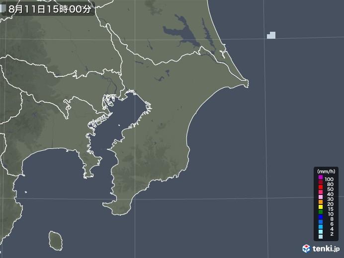 千葉県の雨雲レーダー(2020年08月11日)
