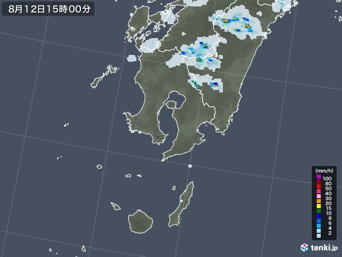 鹿児島県の雨雲レーダー(2020年08月12日)
