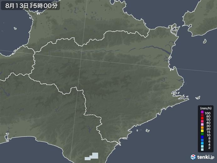 徳島県の雨雲レーダー(2020年08月13日)