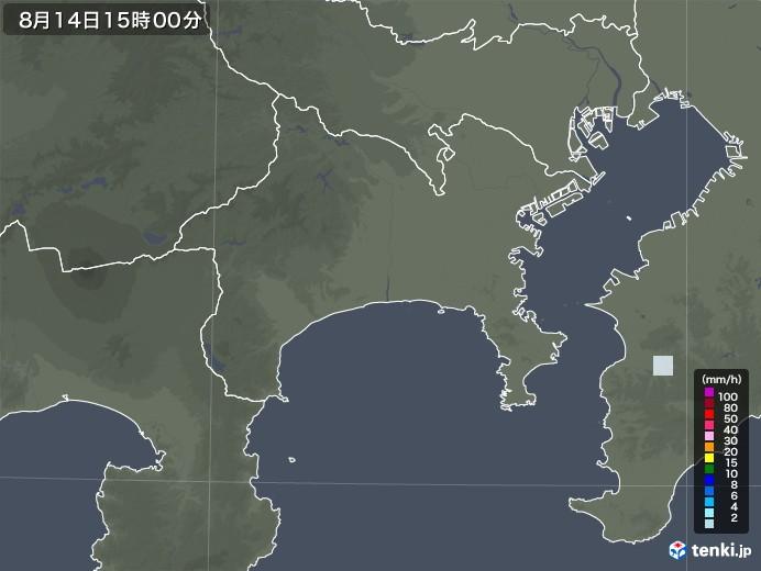 神奈川県の雨雲レーダー(2020年08月14日)