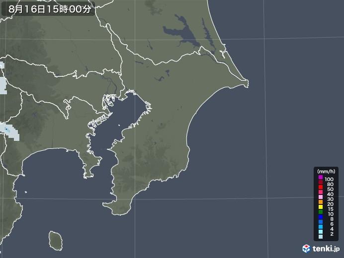 千葉県の雨雲レーダー(2020年08月16日)