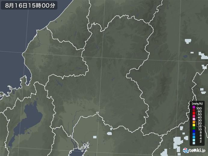 岐阜県の雨雲レーダー(2020年08月16日)