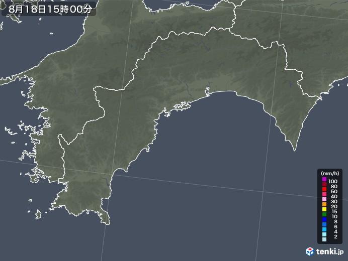 高知県の雨雲レーダー(2020年08月18日)