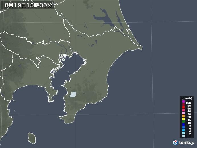 千葉県の雨雲レーダー(2020年08月19日)