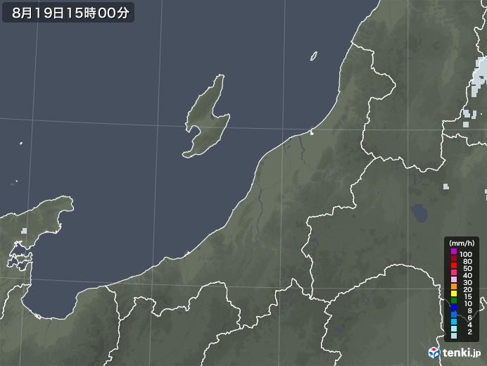 新潟県の雨雲レーダー(2020年08月19日)