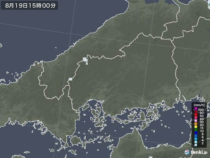 広島県の雨雲レーダー(2020年08月19日)
