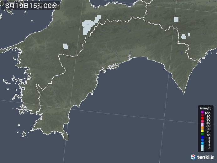 高知県の雨雲レーダー(2020年08月19日)