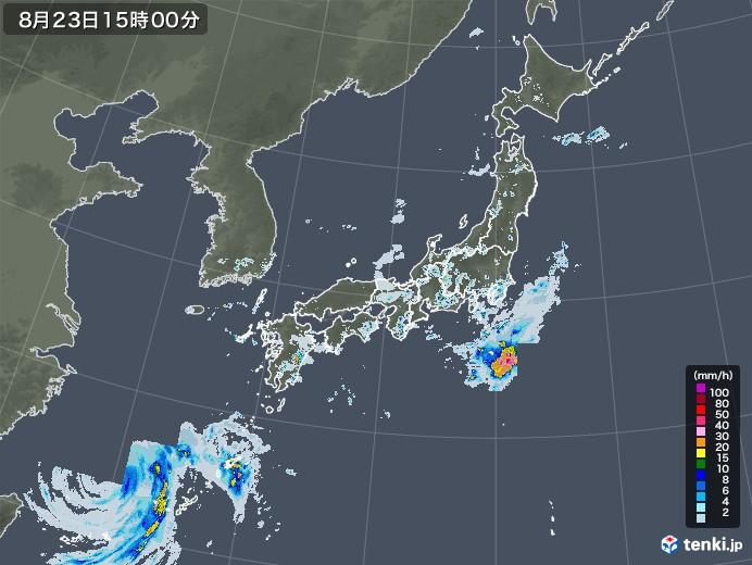 雨雲レーダー(2020年08月23日)