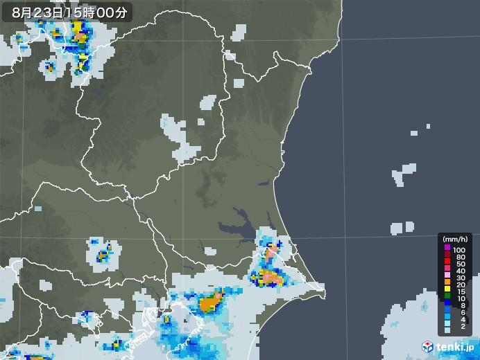 茨城県の雨雲レーダー(2020年08月23日)